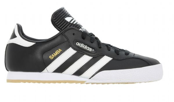 Adidas Original Mens Samba Super Shoes Trainers Leather Black White
